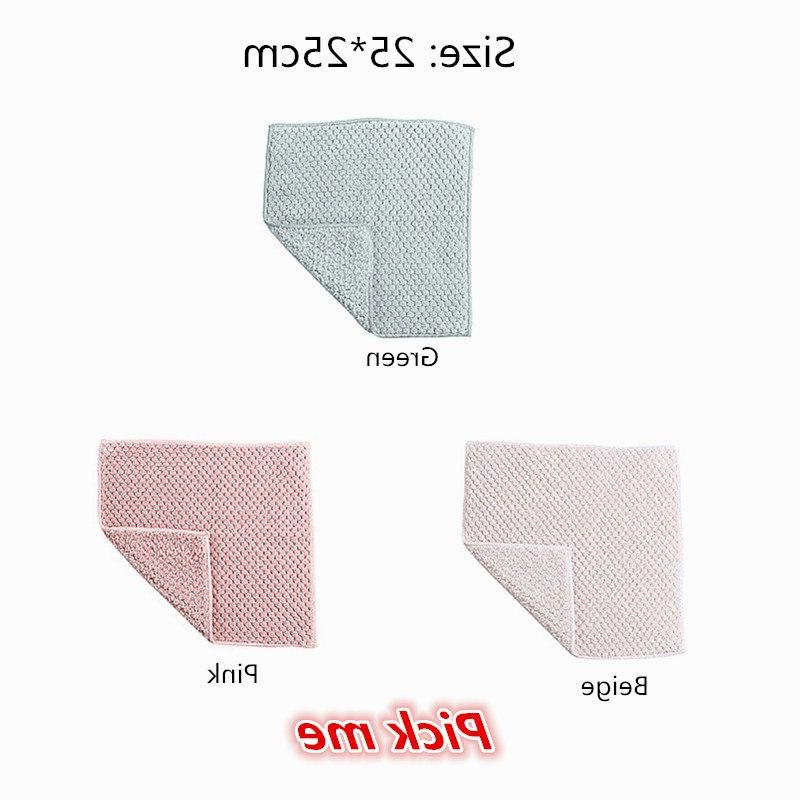5PCS/<font><b>Set</b></font> Household <font><b>Kitchen</b></font> Absorbent Thicker Wipe Table Cleaning Dish Cloth