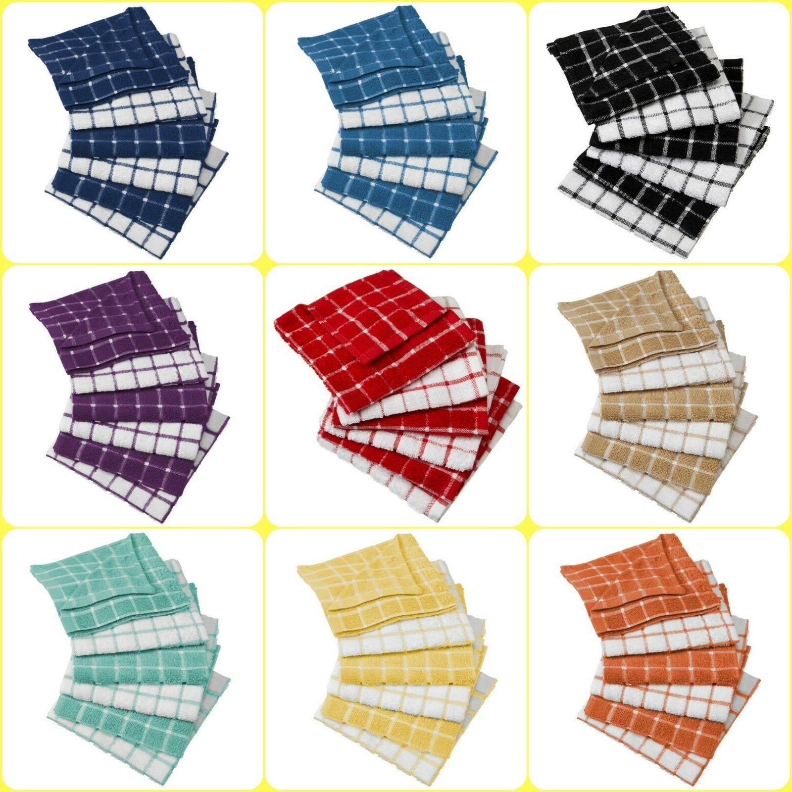 "6-Pack Ultra Absorbent Cotton 12 x 12"" Dishcloth Dish Set Ki"