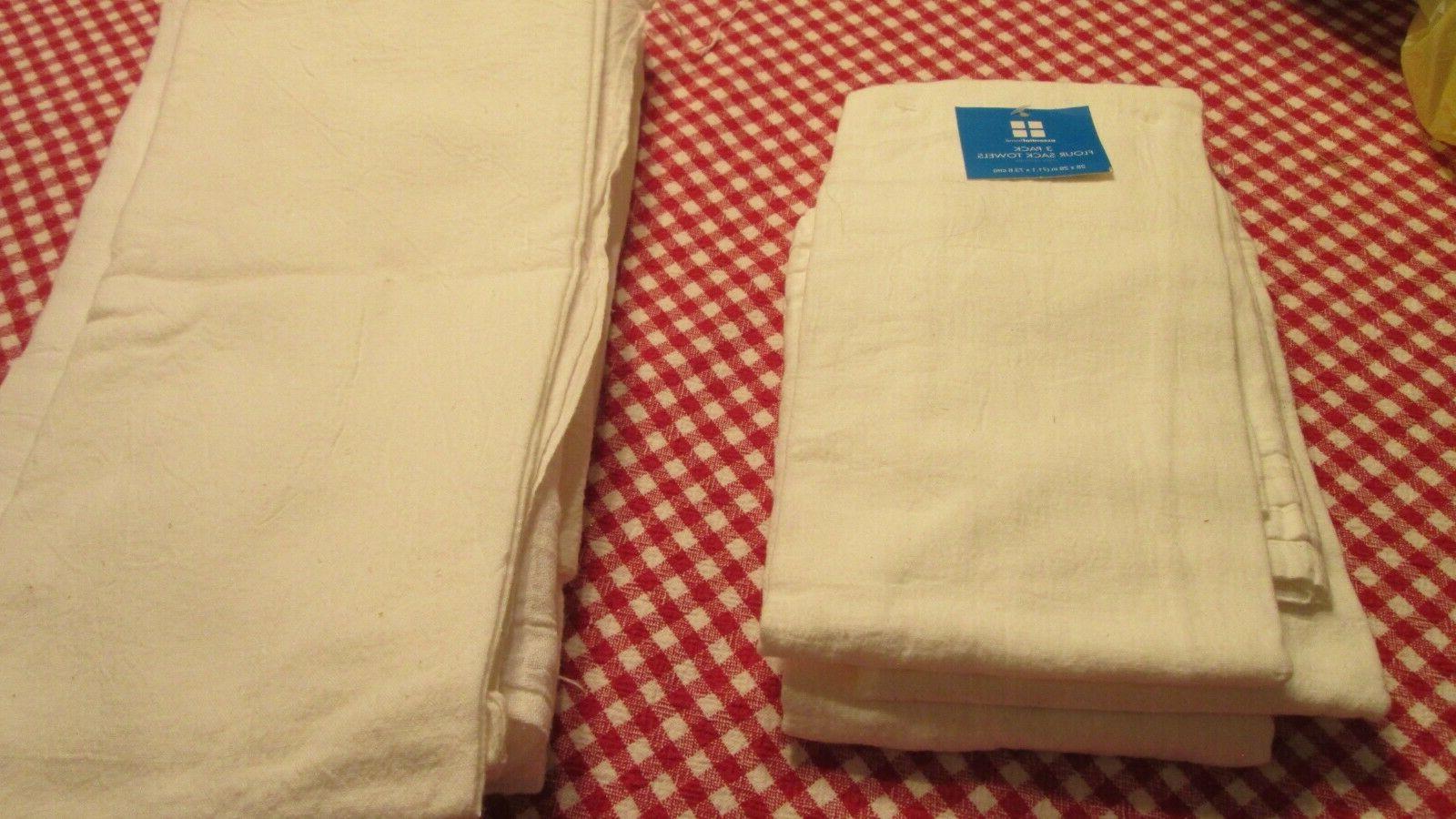 7 flour sack dish towels 28 x