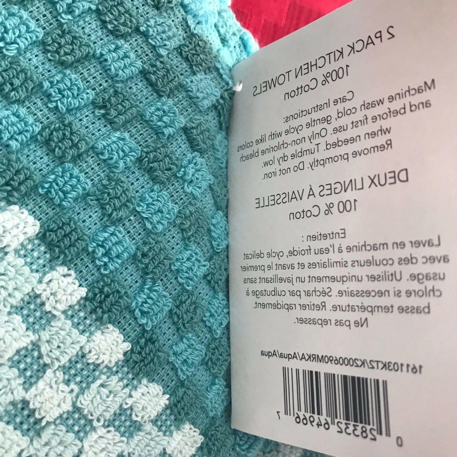 AQUA KitchenAid TOWELS 2 DURABLE COTTON