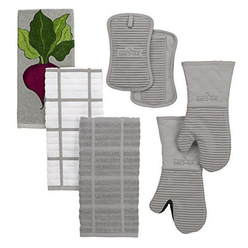 All-Clad 100-percent Fiber Print Kitchen Towel, x 30-inch, Titanium Grey