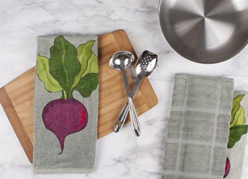 All-Clad 100-percent Cotton Fiber Reactive Kitchen Towel, 30-inch,