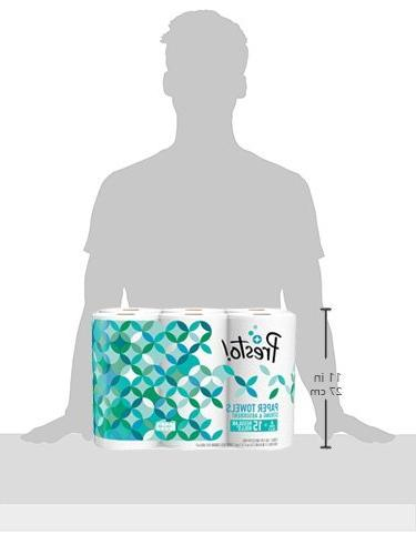 Amazon Brand Presto! Flex-a-Size Towels, Huge Roll, 6 15 Regular