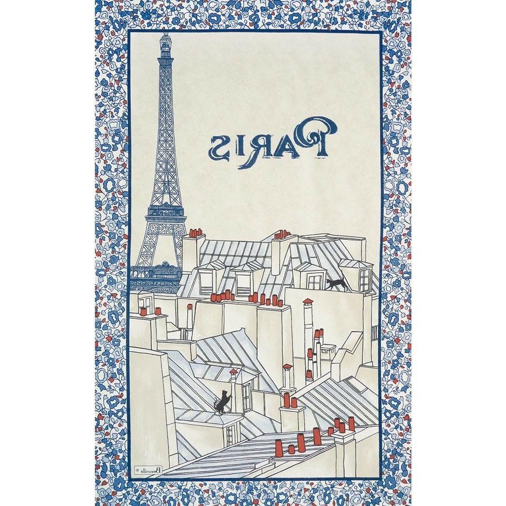 BEAUVILLE Kitchen FRENCH Towel Les toits de Paris Roof Eiffe