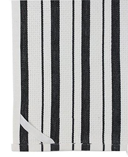 Cotton - Kitchen - - Oversized 20x30 Clean Striped Pattern - Convenient Hanging Loop