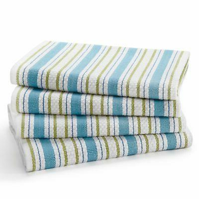 Cotton Pack Kitchen 100% Cotton - 20x30 - Modern Clean Striped Pattern Convenient Hanging
