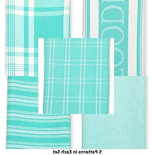 DII Dish Towels Cloth Set, Ultra Absorbent for Washing and Drying 5