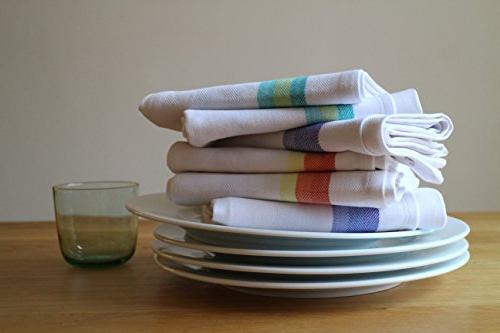 "Harringdons Kitchen Dish Towels Set Cloths 28""x20"" Absorbent. with Green 4 Each. There's no Substitute for Quality"