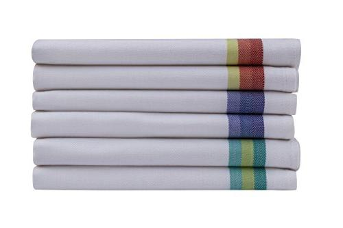 Harringdons Kitchen Towels Set 12-Tea 100% Large Cloths Absorbent. with Green and red Stripes, 4 of There's no