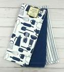 Home Creations Kitchen Towels Towel Set of 3 Blue Pots Pans