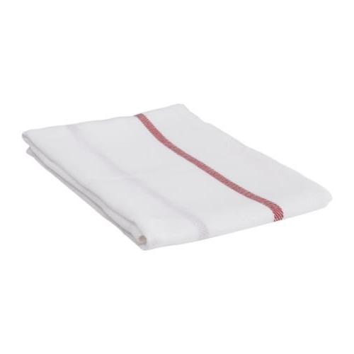 Ikea Dish Towel 101.009.09, Pack of 5, White, Red