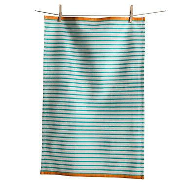 KAF Home Hampton Stripe Kitchen Towel, Turquoise