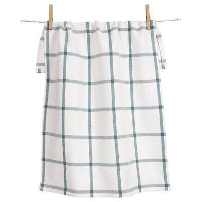 KAF Home Windowpane Oversized Kitchen Towel, 100% Cotton, Te