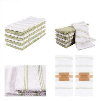 Kaf Home Pantry Piedmont Kitchen Towels Set Of 8 16X26 Inche