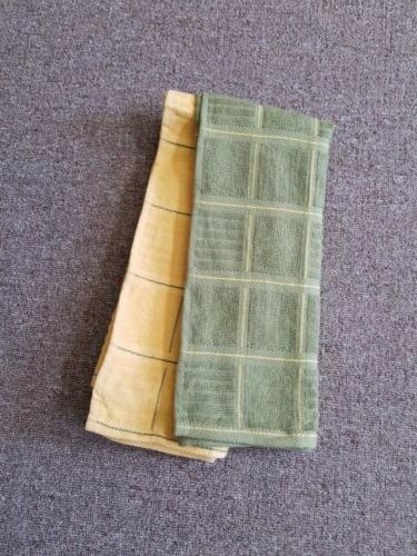 KitchenAid towels green and green pattern