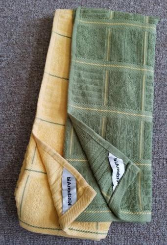 KitchenAid 2 pack kitchen towels  green & yellow and yellow&