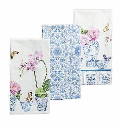 Maison d' Hermine Canton 100% Cotton Set of 3 Kitchen Towels