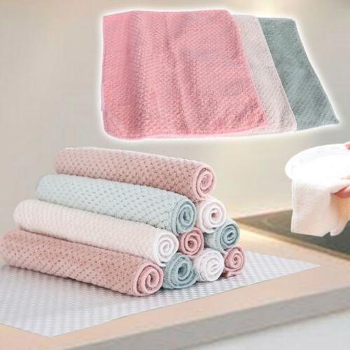 Microfiber Dishcloth Kitchen Washing Dish Cloth