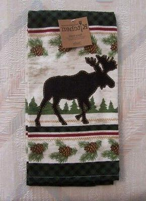Moose Kitchen Terry Towel Kay Dee Woodland Moose Pattern