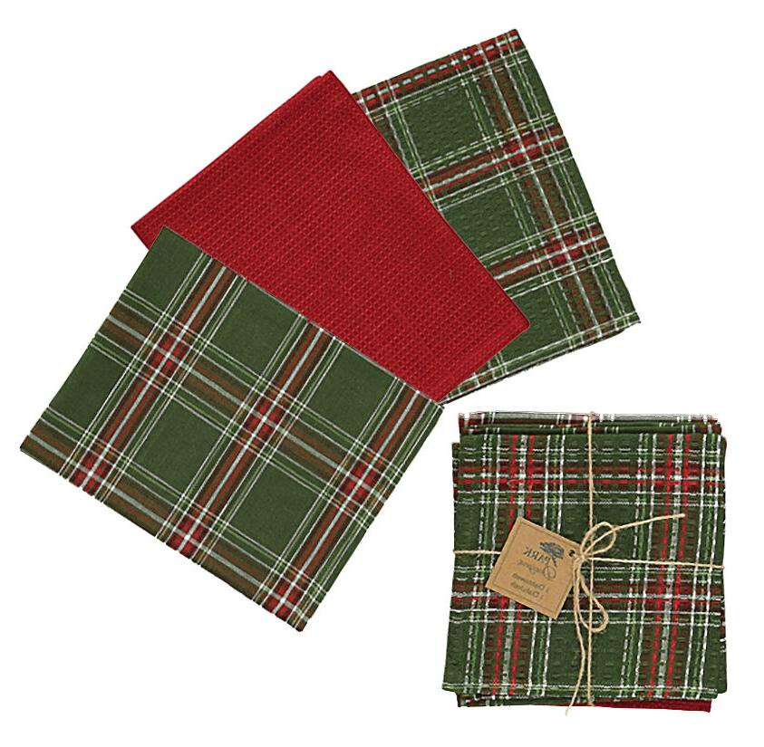 Park Designs Wintergreen 3 Dish Towel/1 Dish Cloth Coordinat