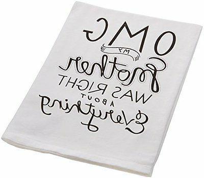 """Primitives by Kathy 25101 OMG LOL Dish Towel, 28"""" x 28"""", My"""