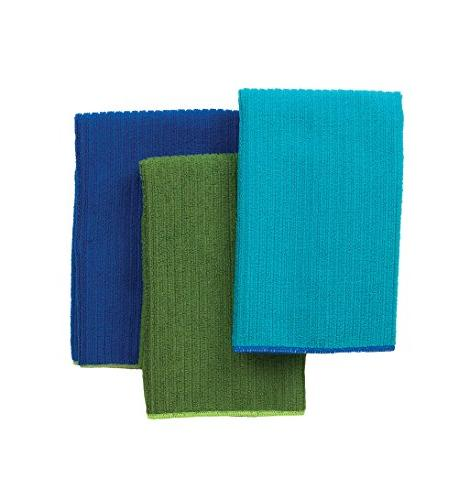 Ritz 16 by 19-Inch Solid Microfiber Kitchen Dish Towel, Blue