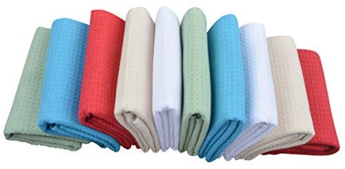 SINLAND Microfiber Towels Dish Weave Inch X 24 Inch 10 Colors