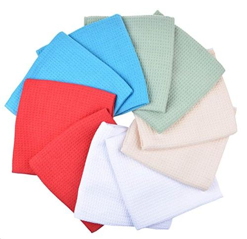 SINLAND Dish Drying Towels Weave Inch X 10 Pack Assorted Colors