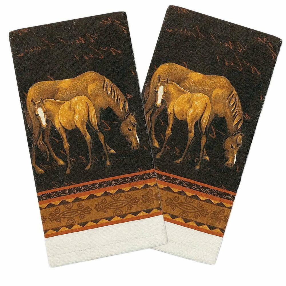 Set of 2 Kay Dee Designs MARE and FOAL Cotton Terry Cloth Ki