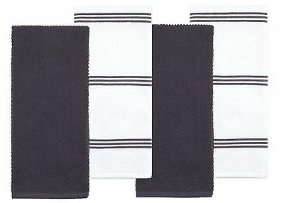 Sticky Cotton Terry Kitchen Towel, Gray, 4 Pack, x 16 in