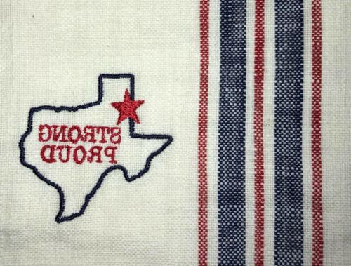 TEXAS Strong Embroidered TOWEL