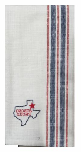 texas strong proud western embroidered woven kitchen