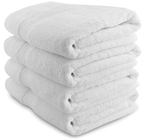 Utopia Towels 700 GSM Premium Bath Towels - 4 Pack Towel Set