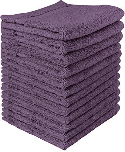 Utopia Towels Luxury Cotton 600 GSM Washcloths - 12 Pack, Pl