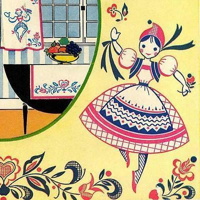 Vintage Embroidery 172 Pennsylvania Dutch Charm for Kitchen