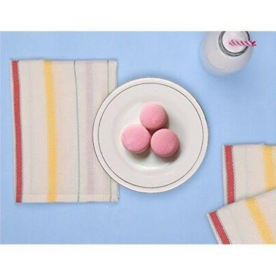 White Kitchen Towels and Dishcloths Cotton Cloth Napkins Set