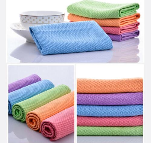 Cotton Terry Set Kitchen Dish Drying Multi Cloth