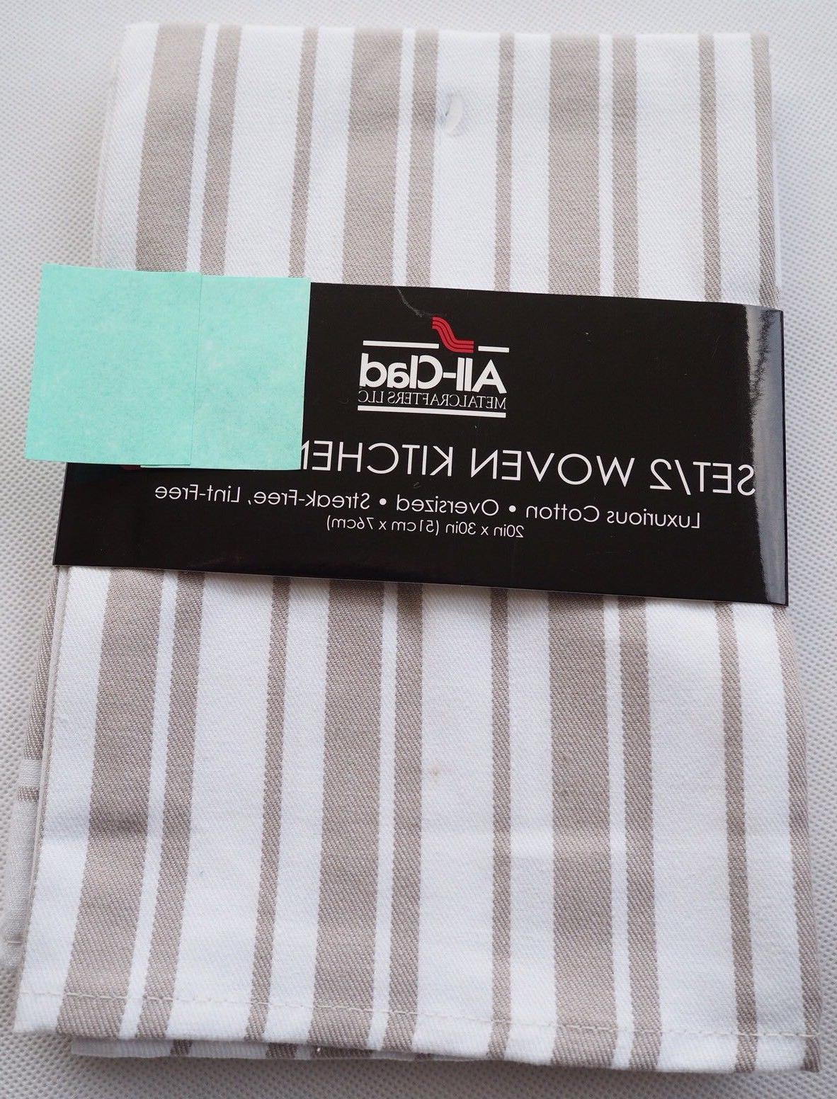 All-Clad set of Woven Kitchen Towels Streak-Free