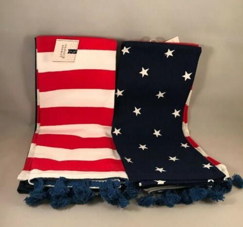 american flag towels set of 4 new