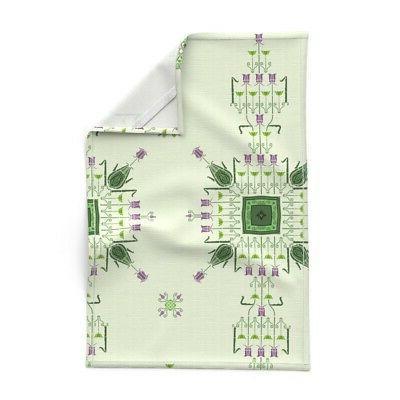 Art Nouveau Crafts Style Linen Tea Set