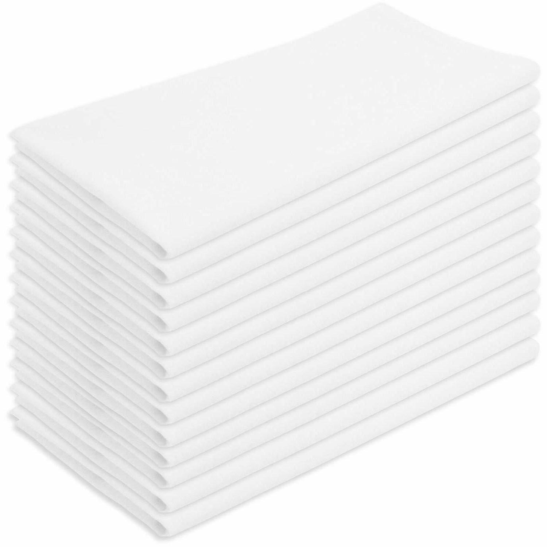12 Pcs,100% Cotton,24x25 Towel