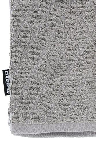 Cuisinart Dish Towel Set-Kitchen and for Dishes/Hands - Bamboo/Cotton Blend, 16 Grey,