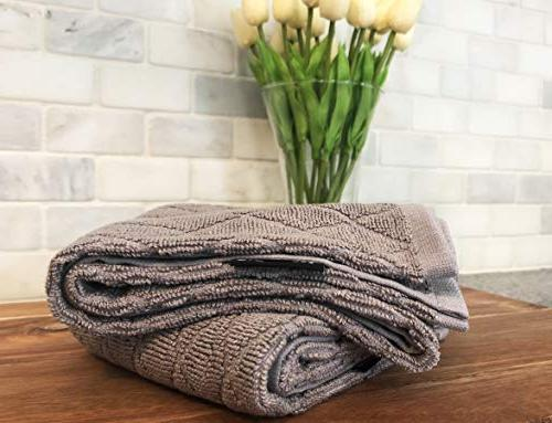 Cuisinart Bamboo Set-Kitchen for Absorbent, Soft Bamboo/Cotton Blend, 16 x Drizzle Grey, Diamond