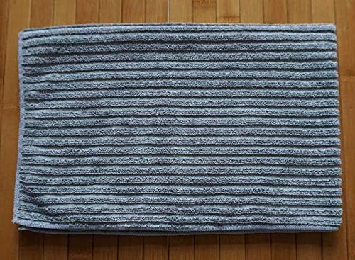 Gryeer Kitchen - Absorbent Towels - One One Side Towels, 26x18 4, Gray