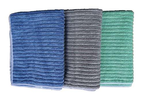 Gryeer Bamboo and Kitchen Towels Super Absorbent - One Side Side 26x18 4,