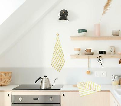 Basket Kitchen Cotton Oversized Striped Pattern