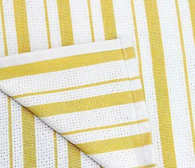 Basket Weave Kitchen Towels Cotton Oversized Modern Striped Pattern