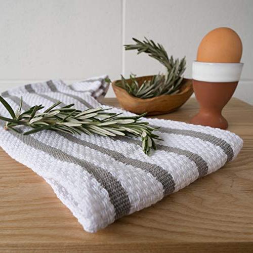 Now Designs Basketweave Towel, London Grey