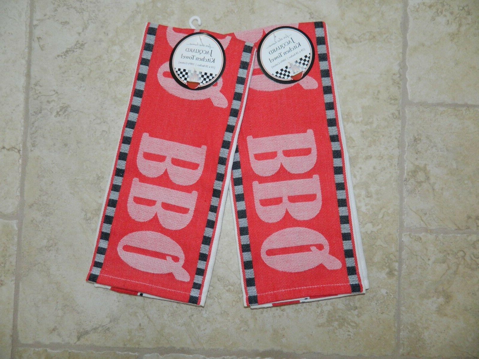 bbq jacquard kitchen towels