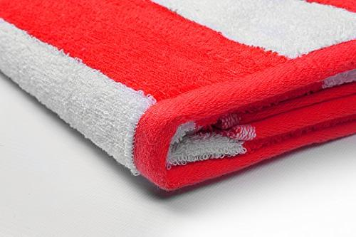 Utopia Large Beach-Towel Pool-Towel 4-Pack, 100% Care, Maximum Softness Absorbency